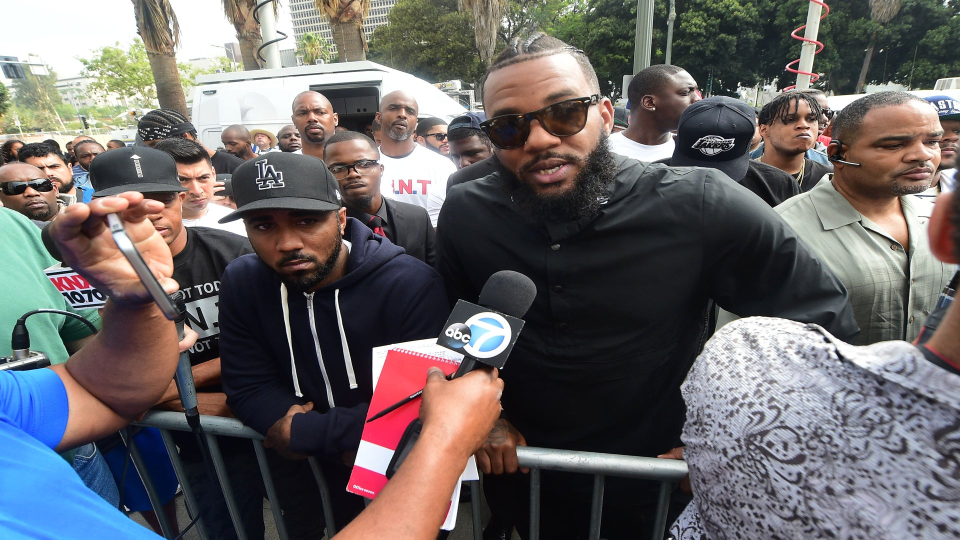Snoop Dogg and The Game Lead Peaceful All-Male Protest in LA