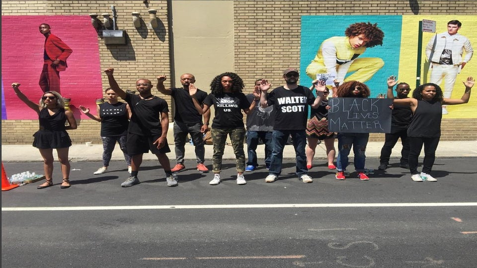 Black Lives Matter Activists Attend Men's Fashion Week and Stage a Silent Protest