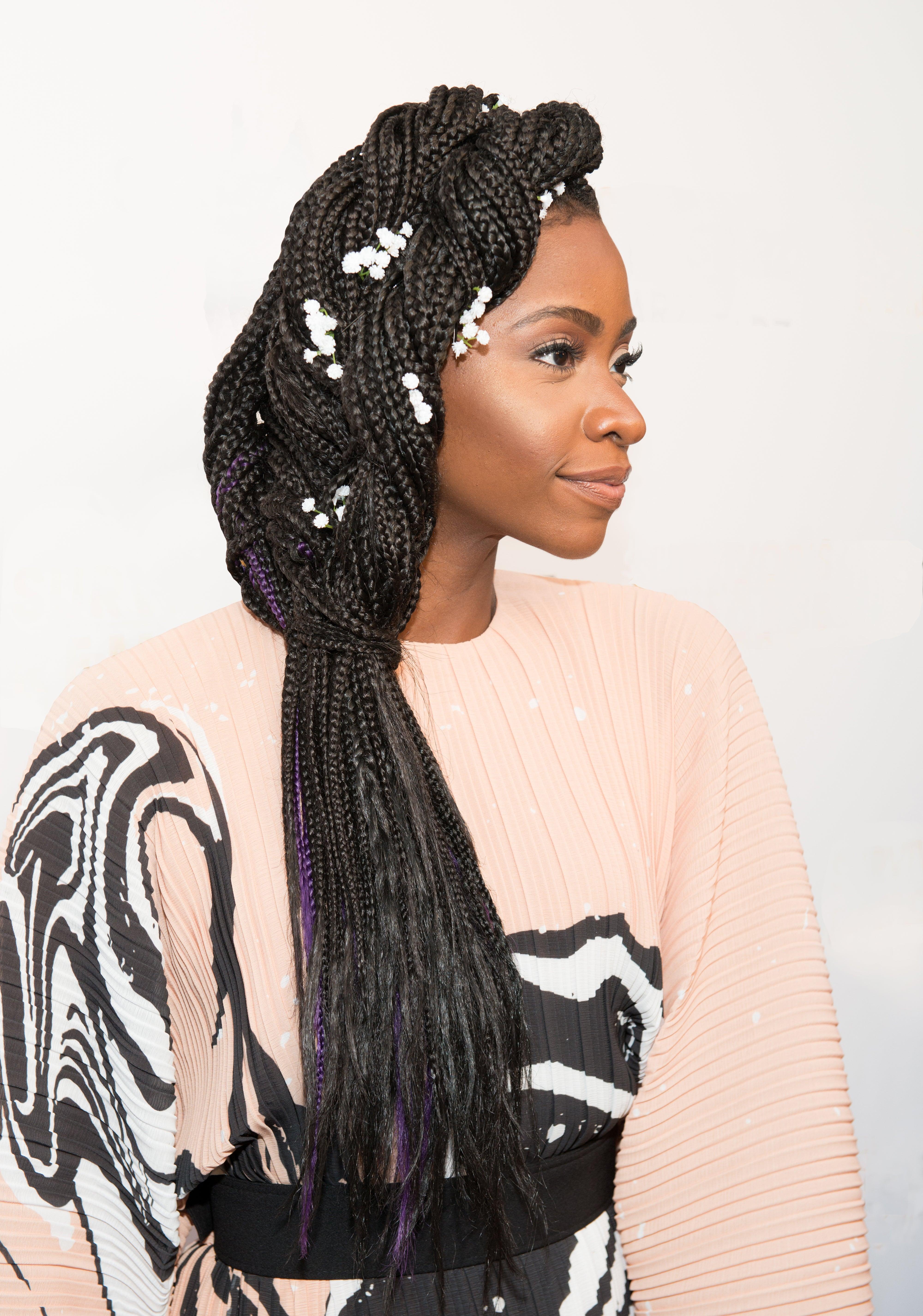#HauteHair: Teyonah Parris' Embellished Braid is Everything!