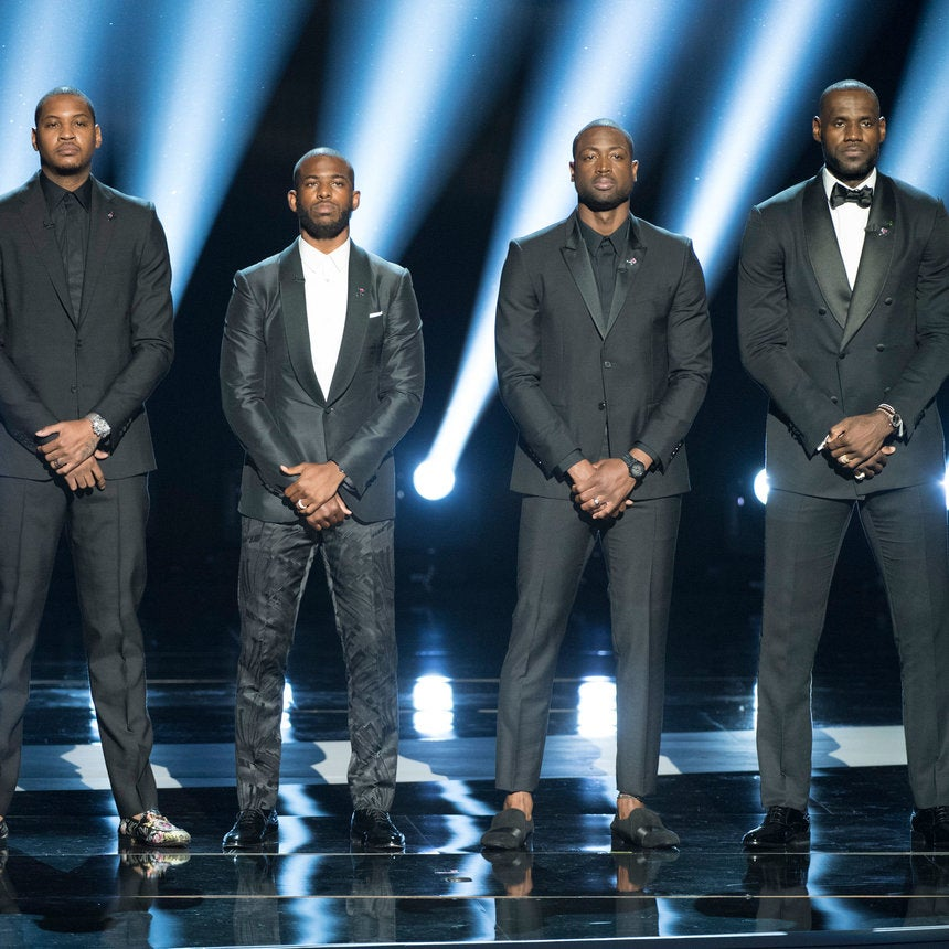 LeBron James, Dwyane Wade, Carmelo Anthony and Chris Paul Issue Call To Action During ESPYs