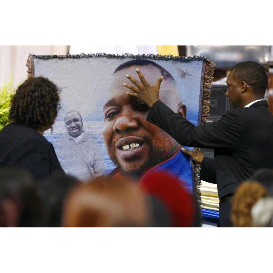 Alton Sterling's Family Pay Their Last Respects At Open-Casket Funeral