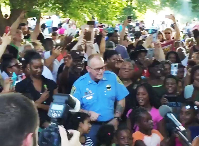 Black Lives Matter Joins Forces With Police To Host Community Cookout In Kansas