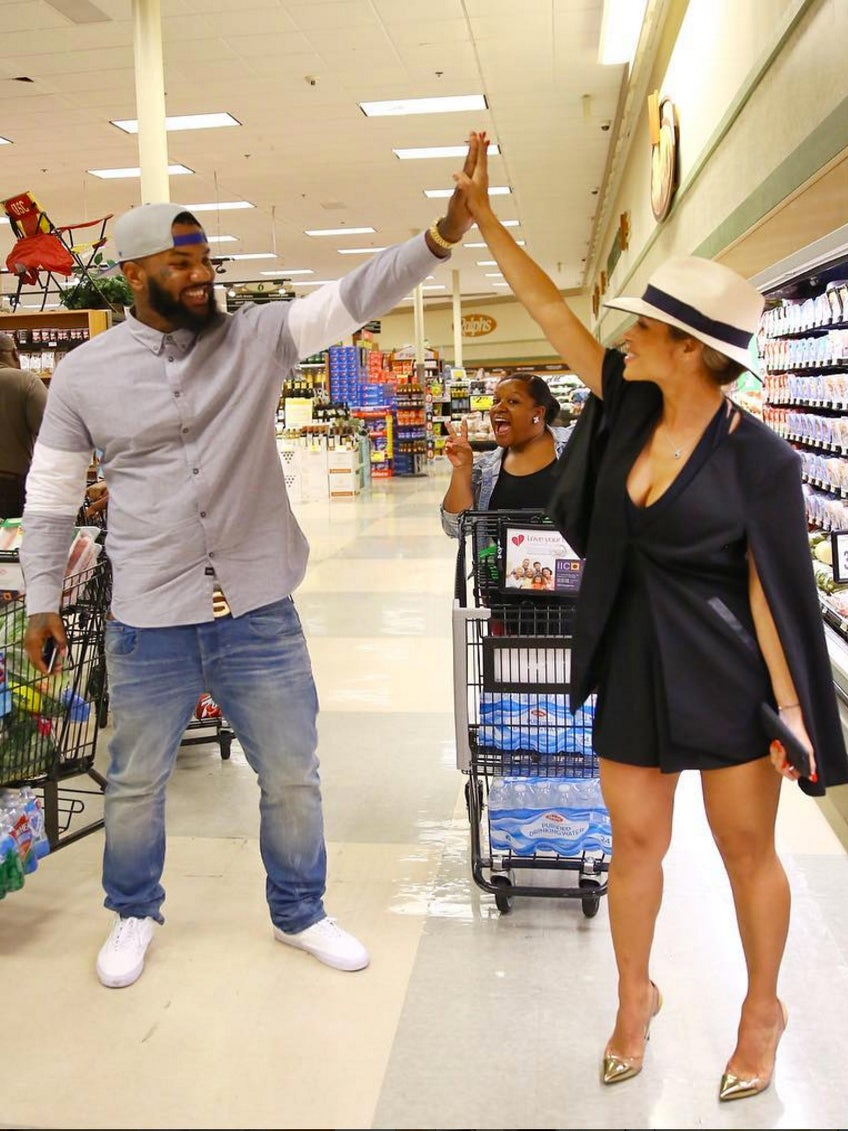 The Game and Actress Zulay Henao Gift Single Mothers with Free Groceries for a Month
