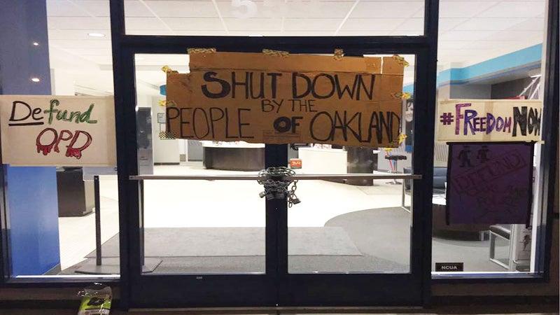 Movement For Black Lives & BYP100 Stage 24-Hour Demonstration At Oakland Police Officers Association