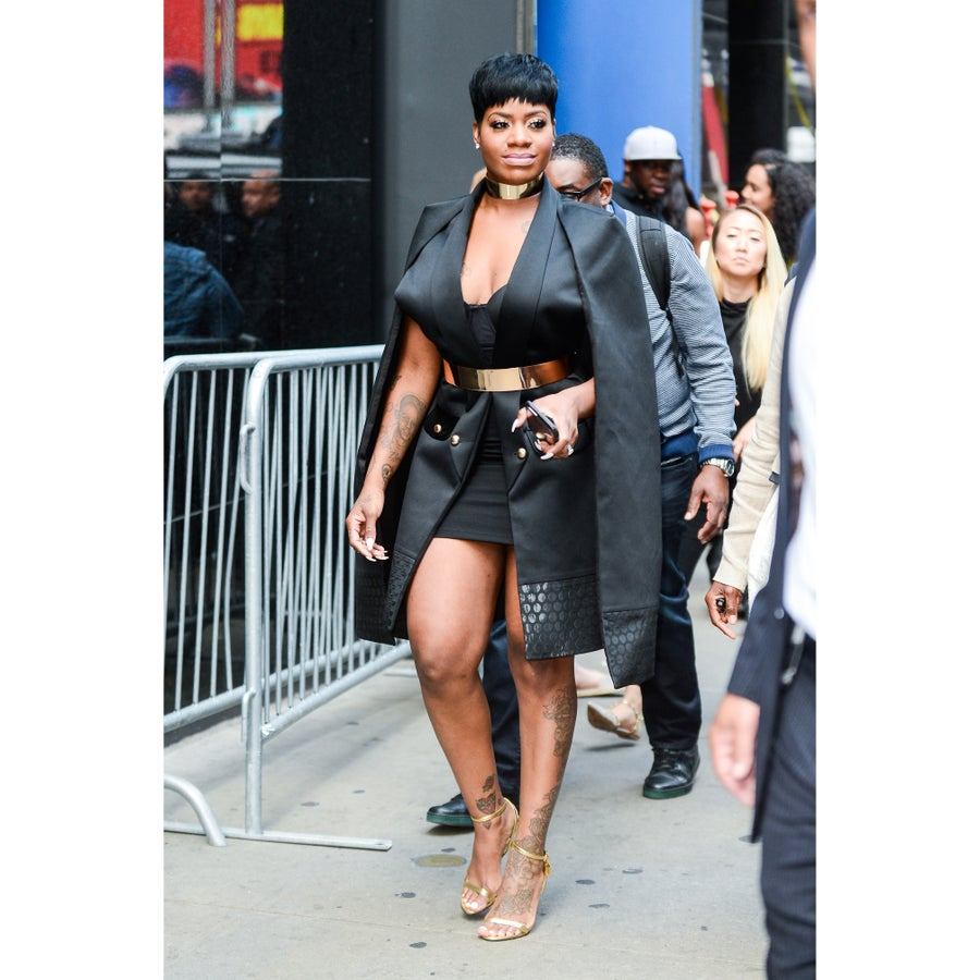 Look of the Day: Fantasia's All-Black Ensemble Sets NYC Streets Ablaze