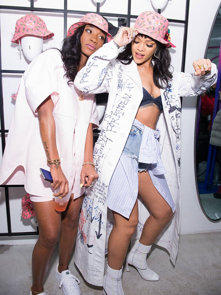 Watch Rihanna and BFF Melissa Forde Do the Electric Slide to Outkast Backstage
