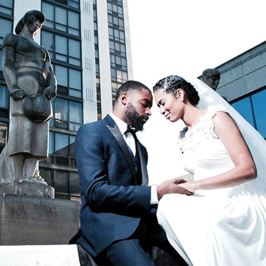 Black Wedding Moment of the Day: Newlywed Christian Couple's 'I Dos' Make Twitter and Instagram Melt