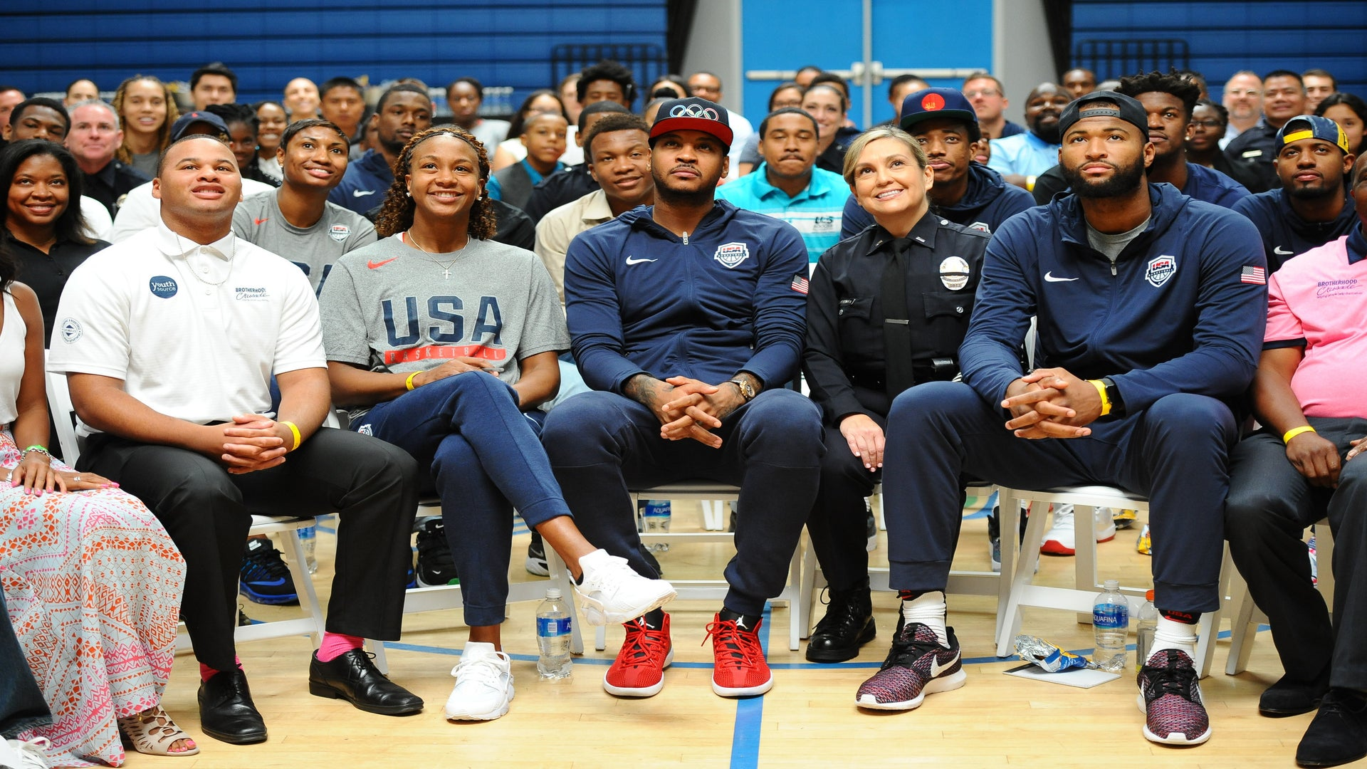 Carmelo Anthony Organizes Community Summit with Athletes, Teens and Police Officers
