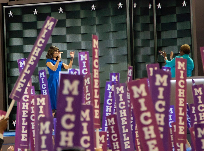 How Black Women at the DNC Responded to Michelle Obama's Speech