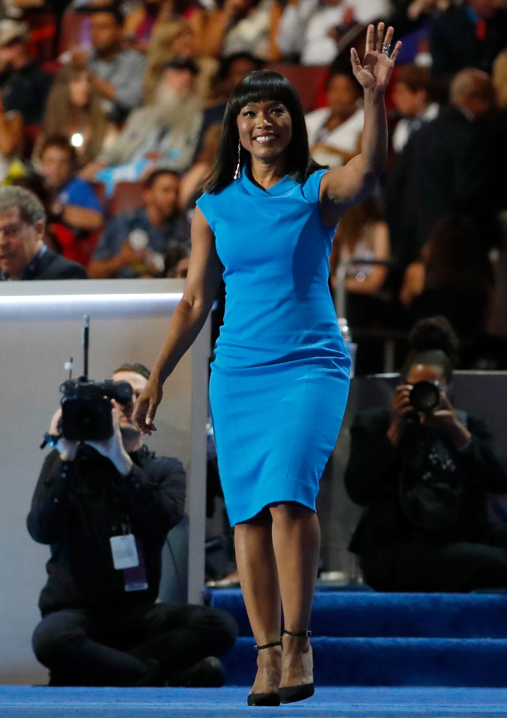 Angela Bassett Introduces Charleston Shooting Survivors At The Democratic National Convention