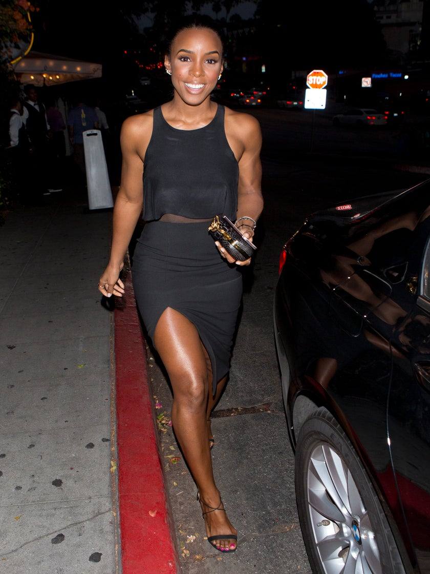 Look of the Day: Kelly Rowland Proves That Sometimes All You Need is a LBD