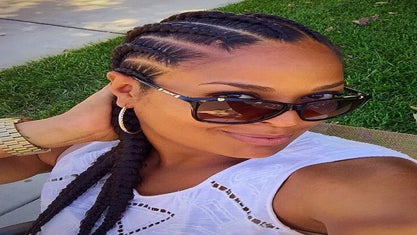 Laila Ali Hanging Out With Family And Has Us Swooning Over Her Cornrows