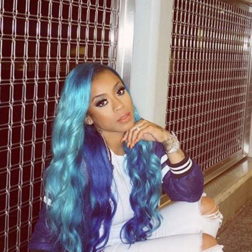 Keyshia Cole Going For That Summertime Blue Hair And We Love It