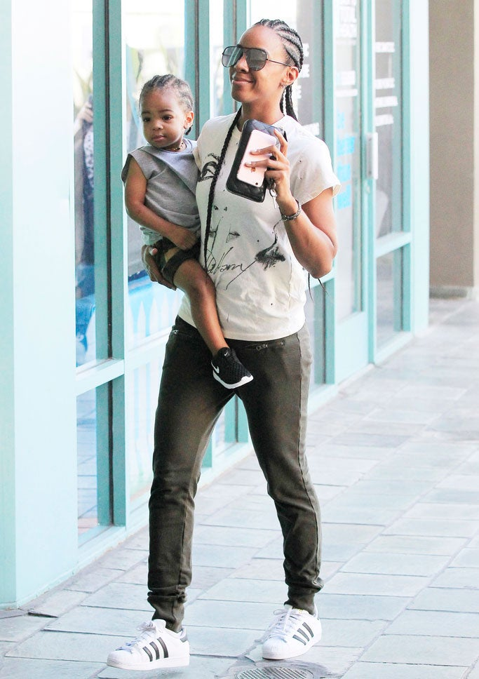 Kelly Rowland and Son Titan Sport Matching Cornrows and it's Beyond Adorable
