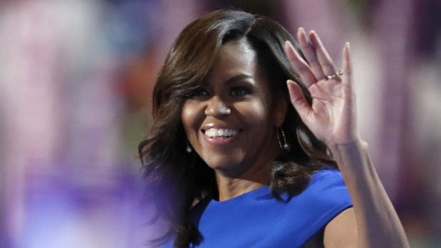Michelle Obama Wows in Beautiful Blue Dress at 2016 Democratic National Convention