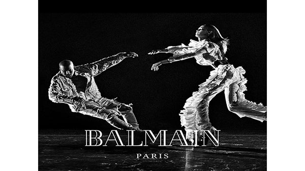 Kanye West and Joan Smalls Get Glam (and Physical) In Balmain Fall 2016 Campaign