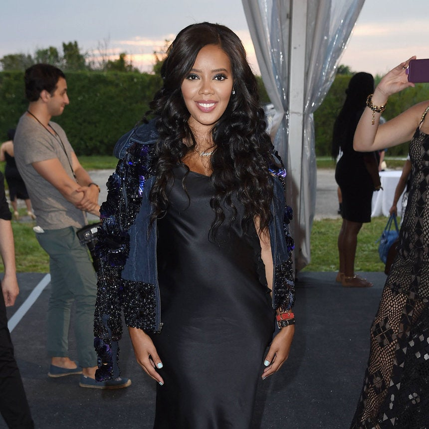 Angela Simmons is Slaying Pregnancy Style, Nails Slip Dress and Bomber Trend