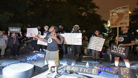 Black Lives Matters 'Occupy' City Hall in New York City