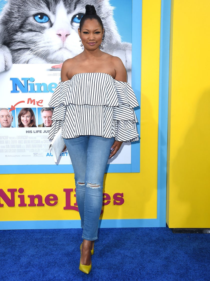 Look of the Day: Garcelle Beauvais is Cool, Calm and Chic in Off-The-Shoulder Top