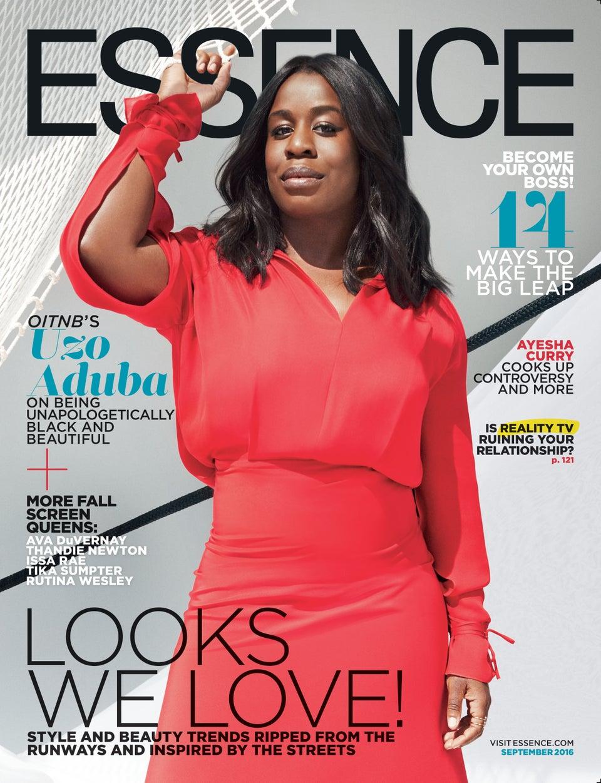 Uzo Aduba Dazzles on the September Issue of ESSENCE