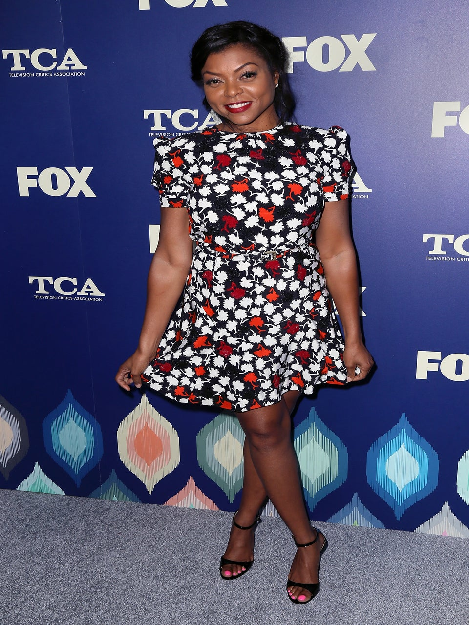 Look of the Day: Taraji P. Henson's Floral Moment Gives Us Major '90s Nostalgia