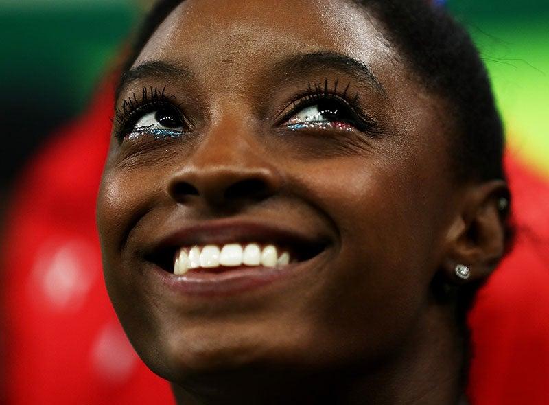 Simone Biles' Tinsel Liner Deserves Olympic Gold