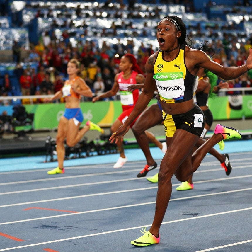 Elaine thompson beats shelly ann fraser pryce in rio essence olympic newbie elaine thompson dethrones fastest woman in the world shelly ann fraser pryce in rio altavistaventures Image collections
