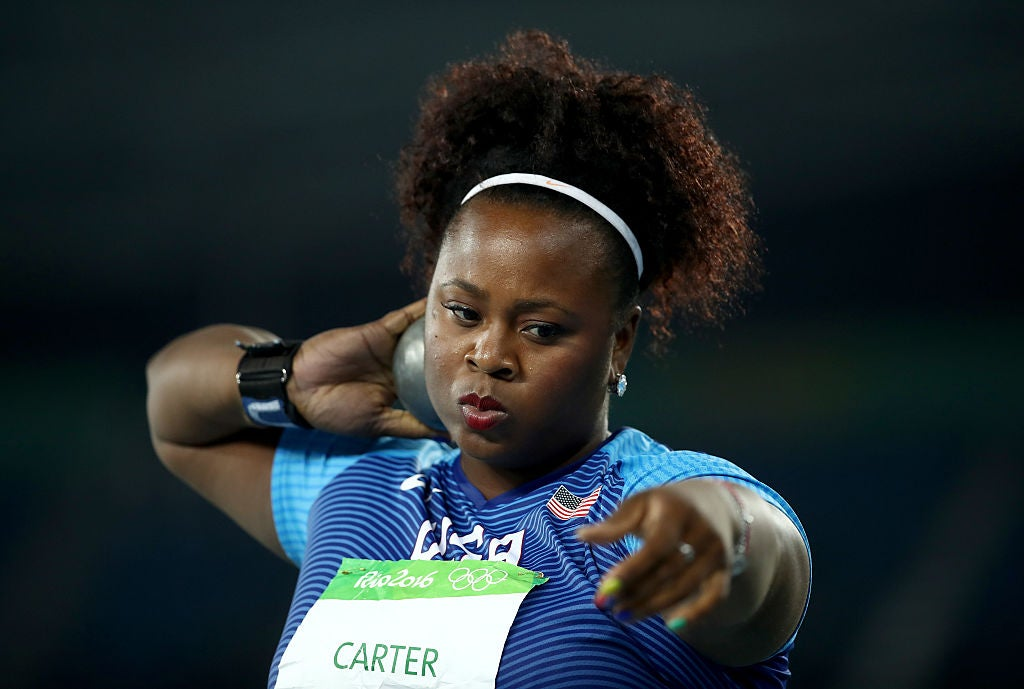 Michelle Carter Makes Olympic History Becoming First U.S. Woman to Win Shot Put Gold Medal