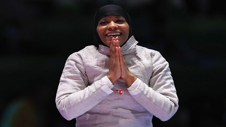 Ibtihaj Muhammad Makes History As The First Woman to Compete and Place for Team USA Wearing a Hijab