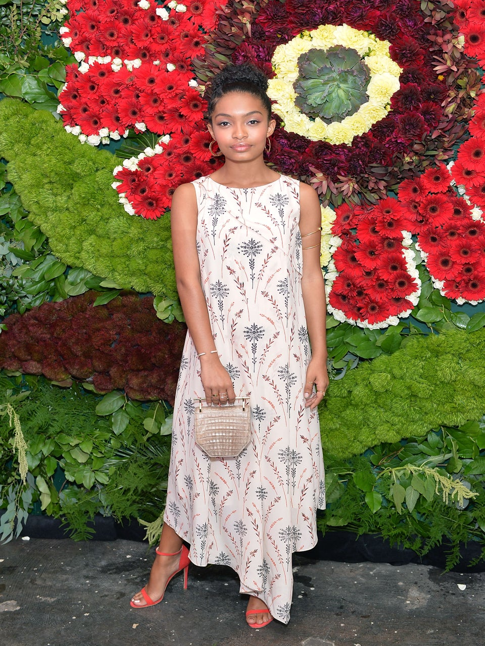 Look of the Day: Yara Shahidi Does Florals Right in Ethereal Flowing Dress
