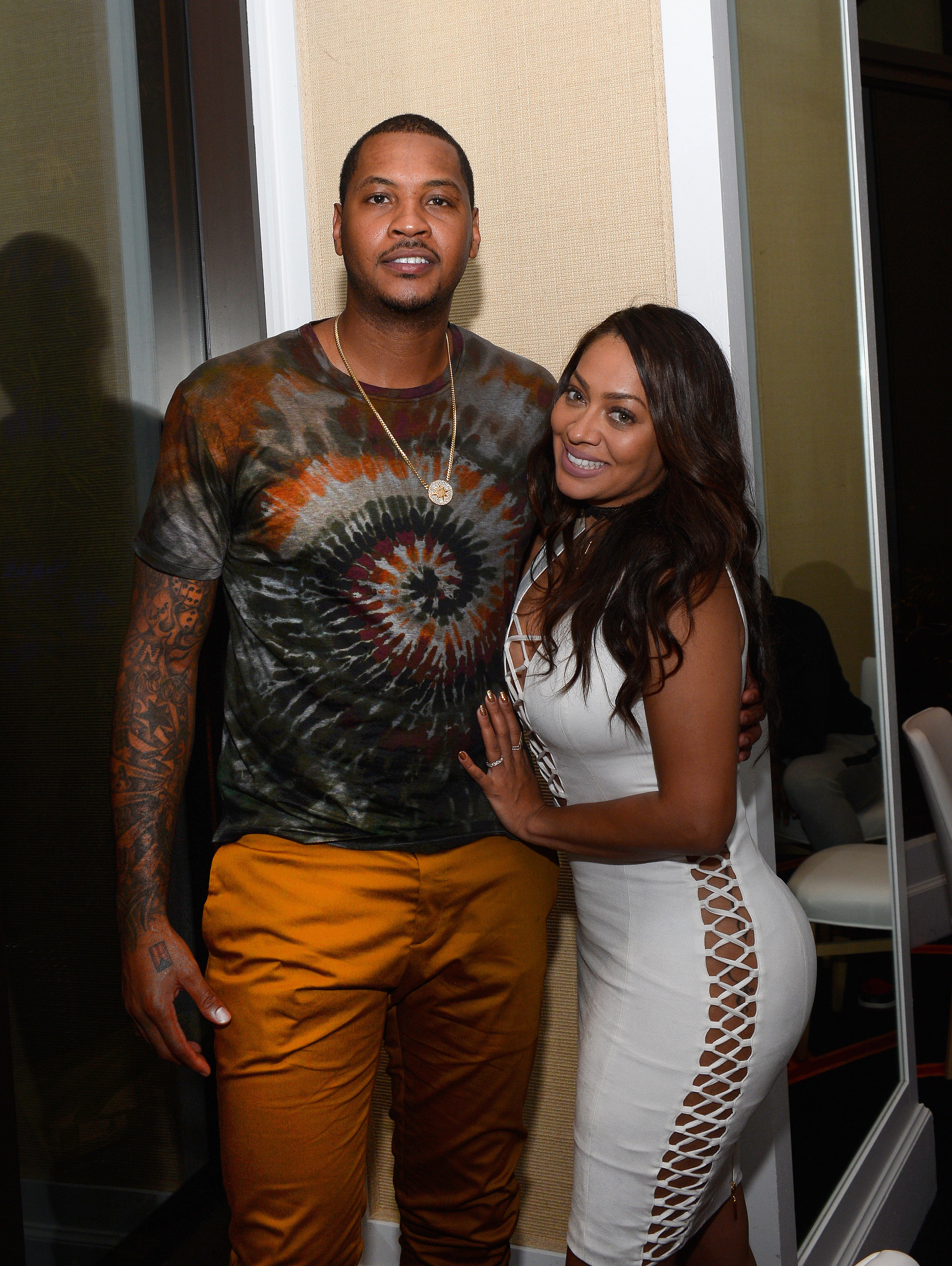 Look How Proud La La Is of Husband Carmelo Anthony for Bringing Home Gold