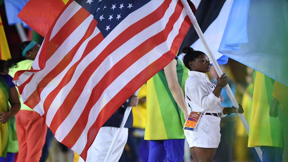 Simone Biles Was First Gymnast in 80 Years to be US Flag Bearer at Closing Ceremony