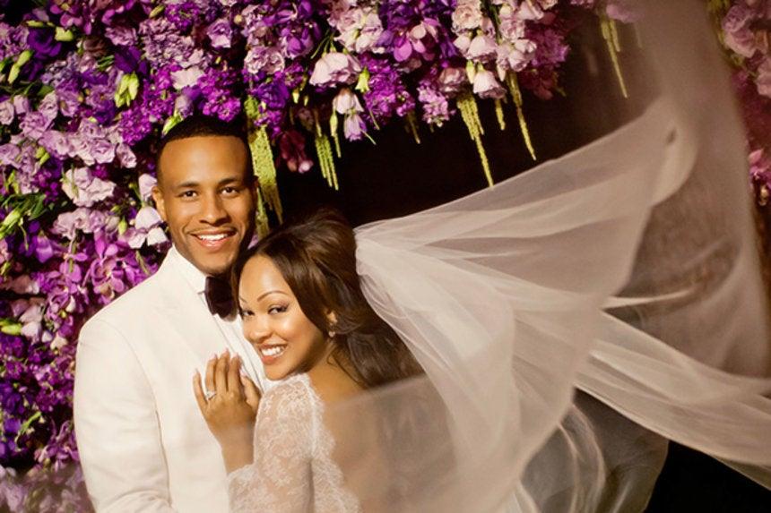 Meagan Good Wedding.The Most Breathtaking Celebrity Wedding Gowns Essence