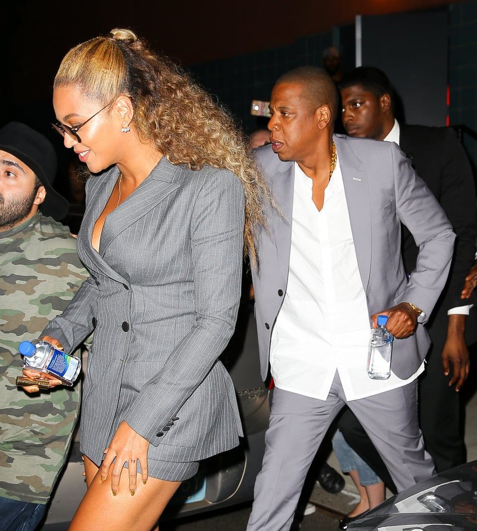 Beyoncé and Jay Z Take Power Dressing to New Heights in Coordinating Suits