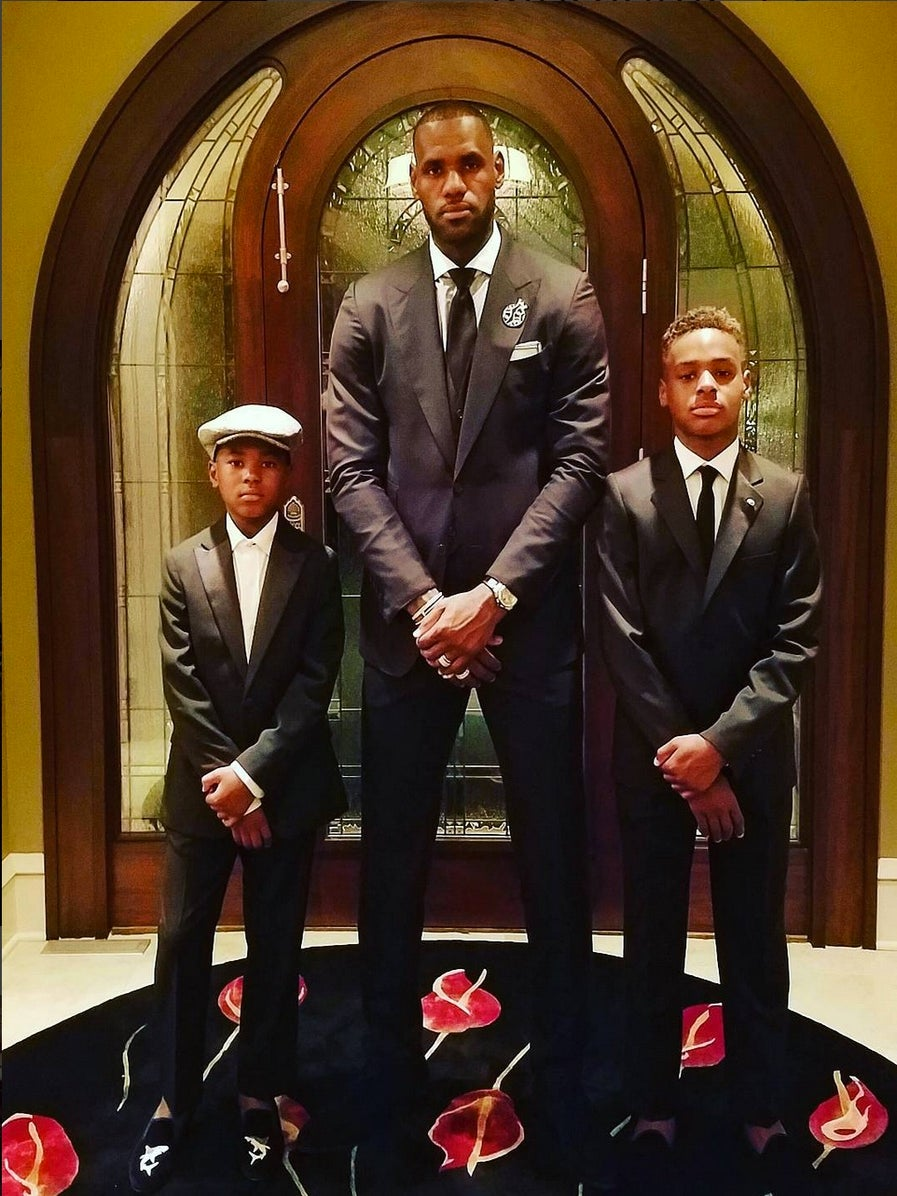 LeBron James And Sons Are Beyond Dapper In Killer Tuxedos