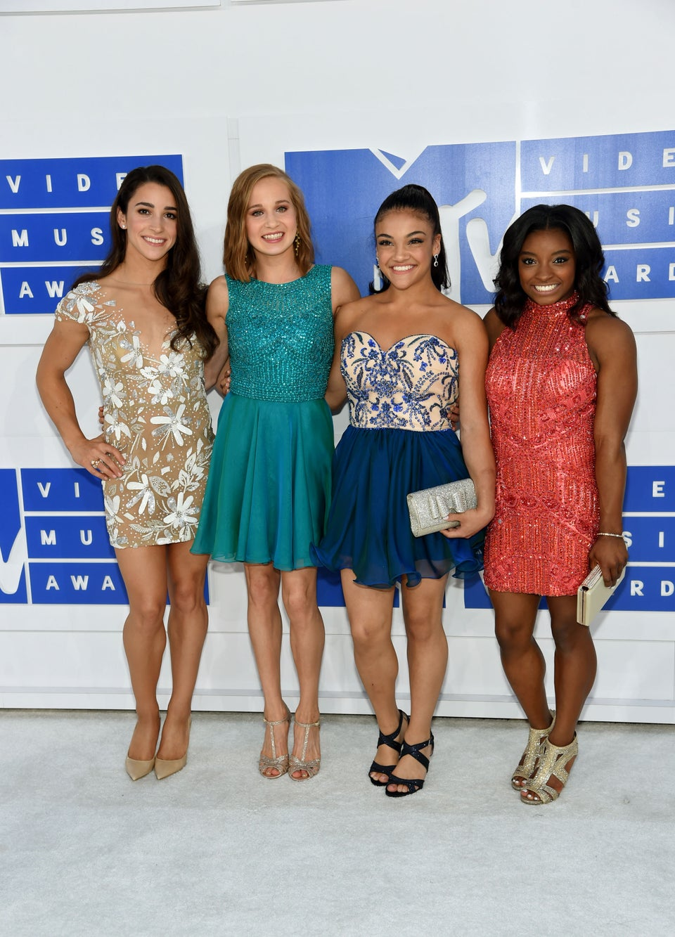 Simone Biles And The U.S. Women's Gymnastics Team Swap Their Leotards for Dazzling Gowns at the 2016 VMAs