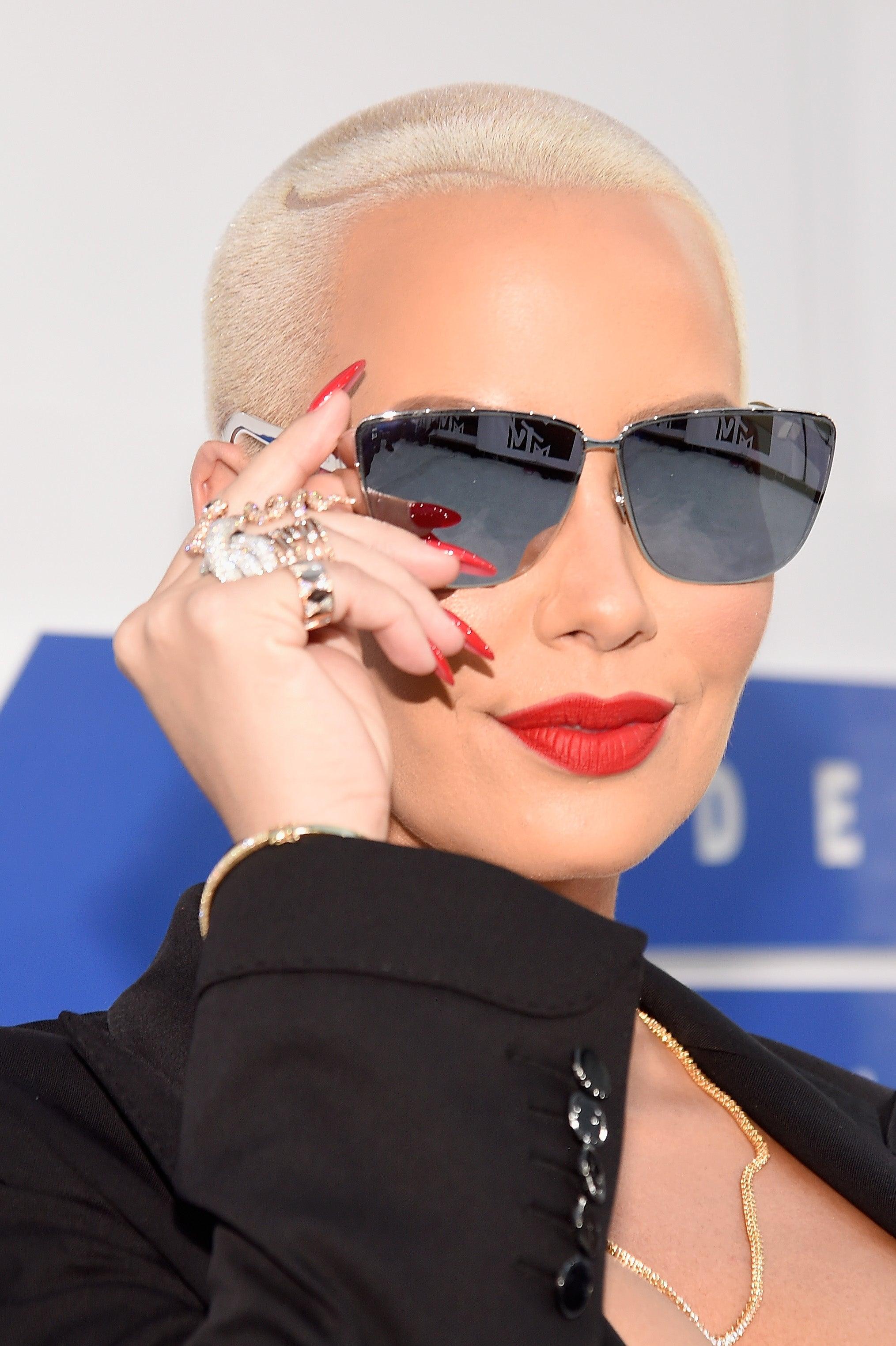 amber rose stiletto nails, manicure, celebrity | Fav ... |Stiletto Nails Amber Rose