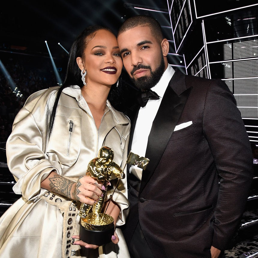 Drake Continues to Confirm Total Lack of Chill, Trips Over Rihanna's Train