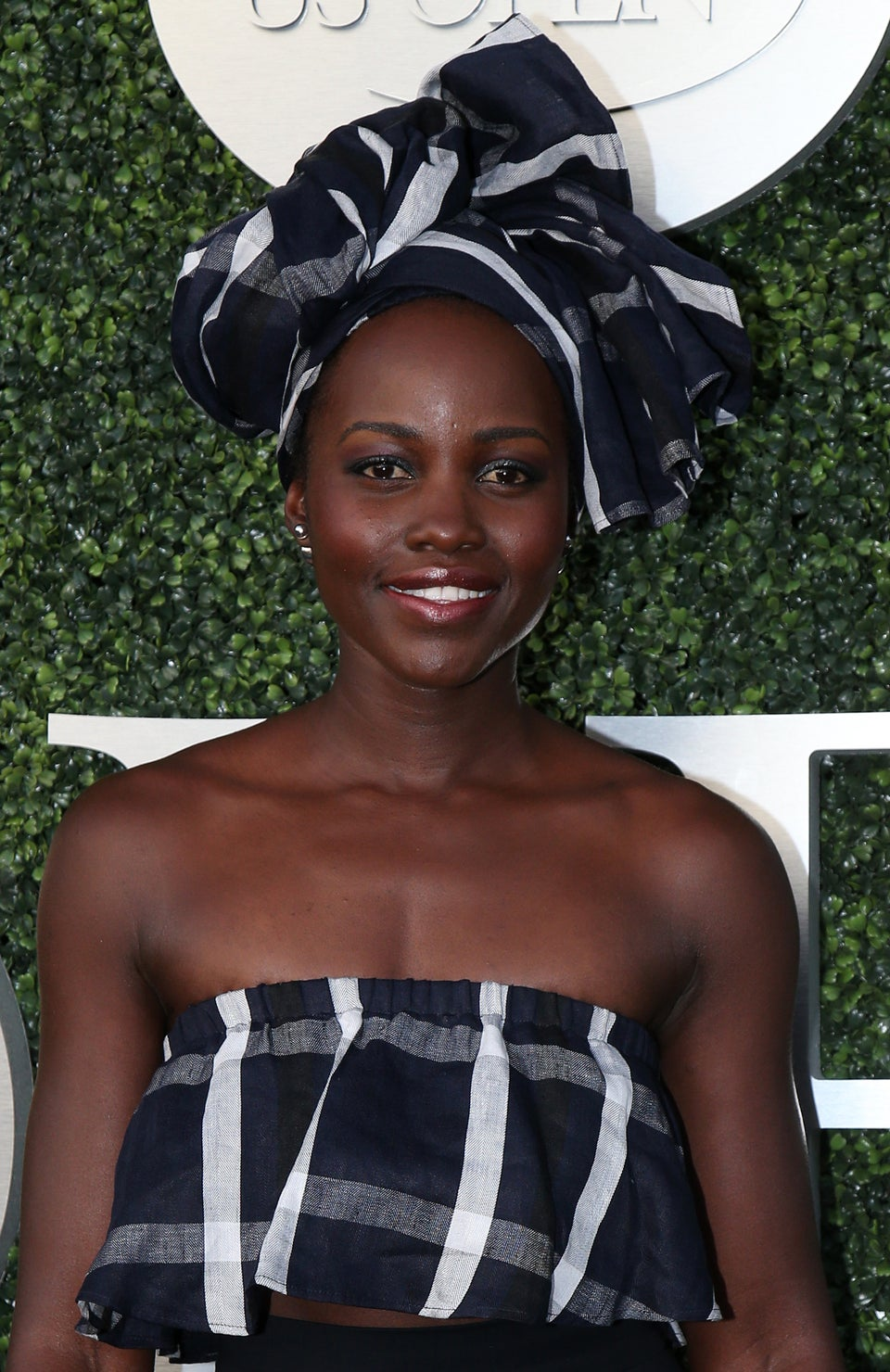 Look of the Day: Lupita Nyong'o Slays in Printed Top and Headwrap