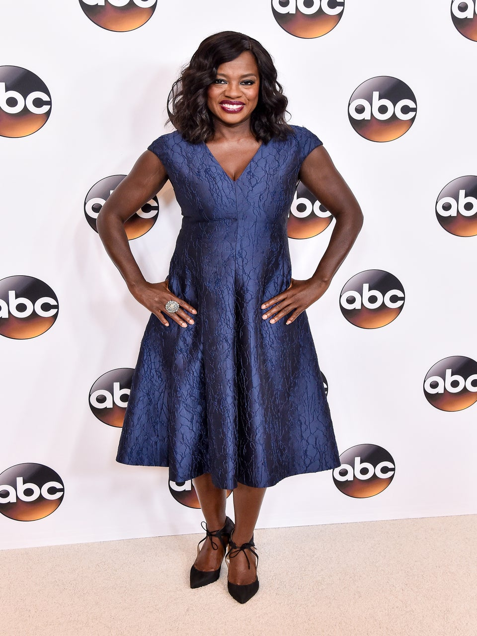 Look of the Day: Viola Davis is the Epitome of Class in Chic Blue Frock