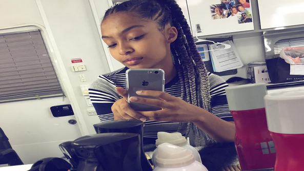 Yara Shahidi Debuts Ombré Box Braids And They Are Beyond Beautiful