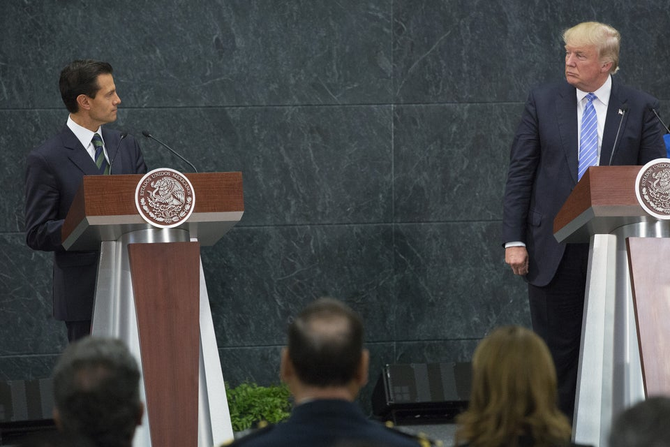 Donald Trump, Mexican President Nieto Remain At Odds About Border Wall