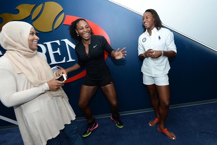 #BlackGirlMagic Personified: Check Out Serena Williams Hanging Out With Simone Manuel and Ibtihaj Muhammad At The U.S. Open