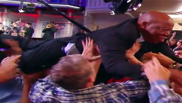 You Have To Watch Iconic Civil Rights Leader John Lewis Crowd Surf On The 'Colbert Show'