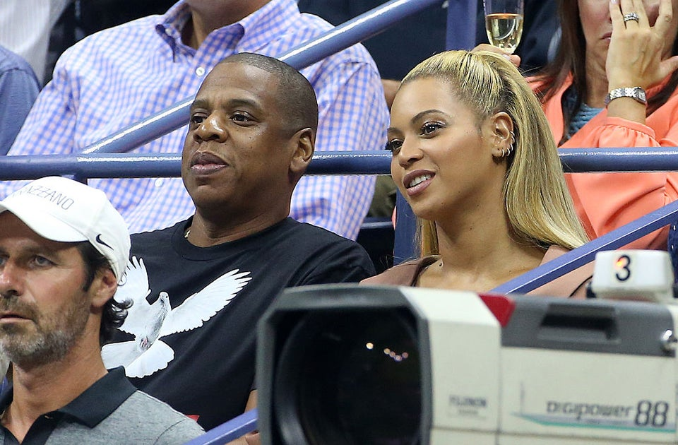 Beyoncé and Jay Z Cheer On Serena Williams At US Open