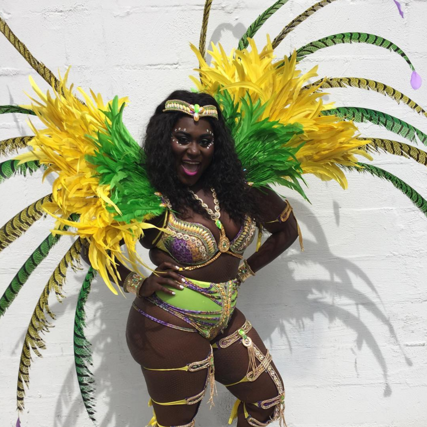 Danielle Brooks Spent Her Labor Day Weekend in Feathers and Rhinestones