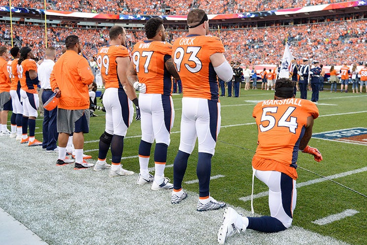 Another Football Player Has Joined Kaepernick's National Anthem Protest