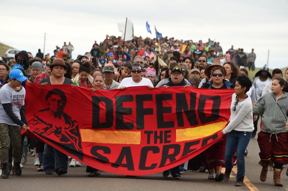 Protests Against North Dakota Pipeline On Sacred Native American Land Continue