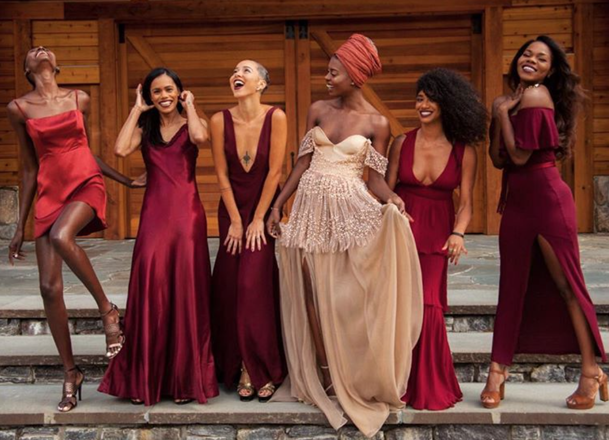 Black Wedding Moment Of The Day This Bridal Party Is Carefree Black