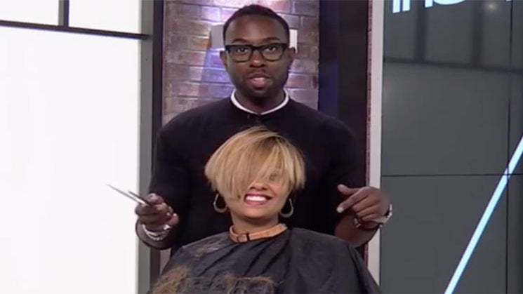 Watch As FLOTUS' Hairstylist Transforms Our Entertainment Director's Hair Into A Chic Undercut